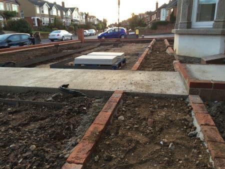 front-garden-construction